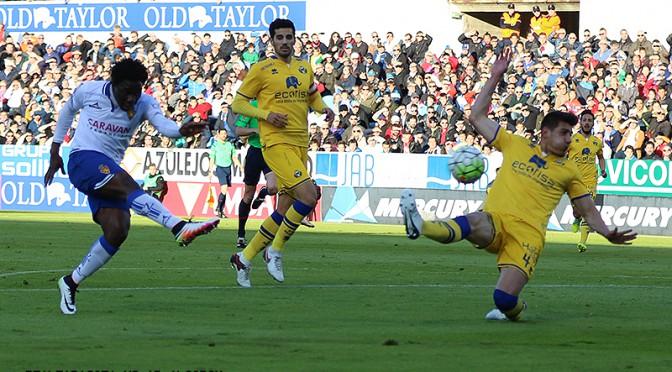 Ros pone el motor, y  Dongou los goles en la victoria ante el Alcorcón (3-1)